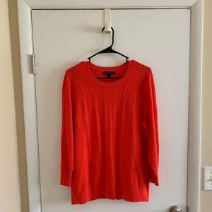 NWT Banana Republic Red Knit Lightweight Sweater